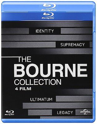 Bourne 1 2 3 4 Collection Mito Caso Legado Ultimatun Blu-Ray Nuevo En Castellano
