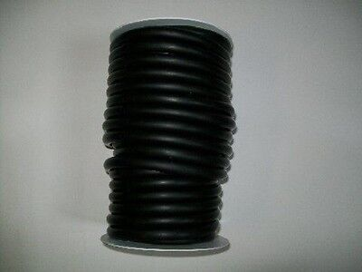 50 CONTINUOUS FEET 1/4 I.D x 1/16 w x 3/8 od  LATEX TUBING SURGICAL RUBBER BLACK