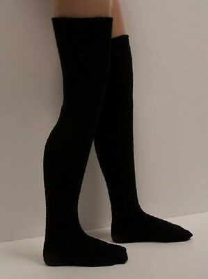 "BLACK Stocking Thigh-Hi Doll Socks For 14"" Kish Chrysalis Lark Song Piper (Debs)"