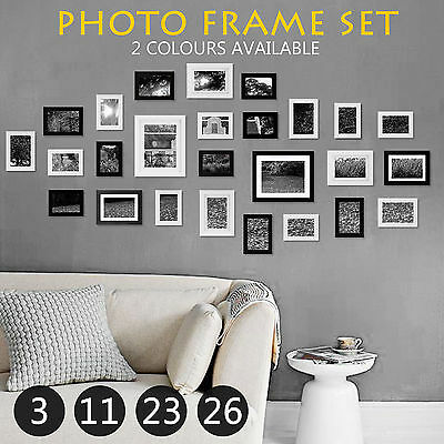 Multi Photo Frame Set DIY Home Décor Picture Collage Wall Gift 3 26 23 11 PCS