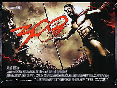 300 * CineMasterpieces DS 2006 BRITISH QUAD THREE HUNDRED ORIGINAL MOVIE POSTER