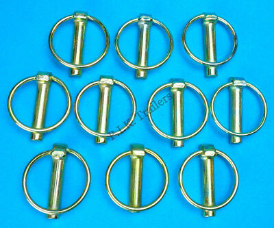 10 x Lynch Pins 11mm x 50mm-  Linch - Trailer Horse Box Tractor Lorry Tail Gate
