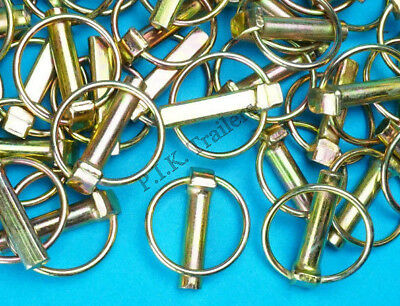 20 x Lynch Pins 11mm x 50mm - Linch - Trailer Horse Box Tractor Lorry Tail Gate