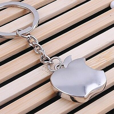 1PCS Fashion Apple  Alloy Key Chains Key Ring For Gift Hot Findings 28*25*8mm