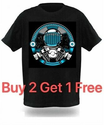 LED Sound Activated EL T shirt/light up shirt with mixes a silk screen - 099