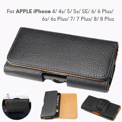 iPhone 8 7 Plus 6s 6 SE 5 5s 4s for Apple PU Leather Case cover Pouch Belt Clip
