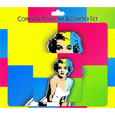 Wholesale Job Lot 12 Mouse mats Pad & Coaster Sets Marilyn Monroe Pop Art NEW
