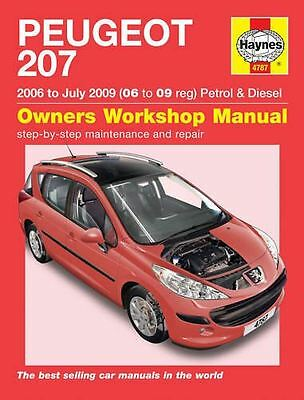HAYNES SERVICE & REPAIR MANUAL Peugeot 207 Petrol & Diesel (06 - July 09) 4787