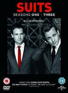 Suits Series complete season 1, 2 & 3 DVD Box Set Region 4 New Sealed TV