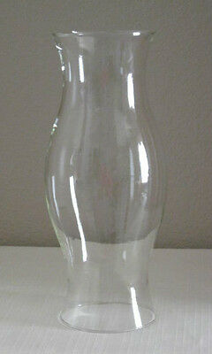 "Clear Glass 14"" Tall Oil Lamp or Candle Holder Globe/Chimney/Shade"