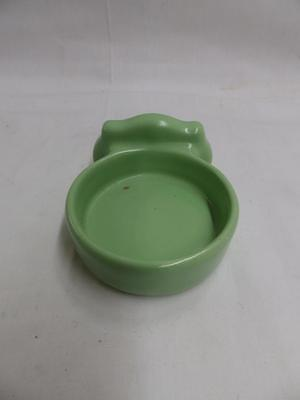 Vintage Ceramic Jadeite Green Cup Holder Bathroom Antique Porcelain Old 3718-14