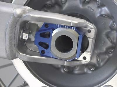 Works Connection Axle Blocks Blue For Yamaha YZ250F YZ450F
