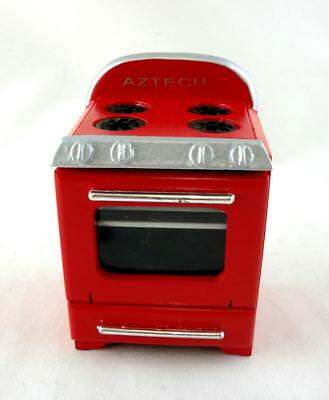 Dolls House Miniature 1:12 Scale Kitchen Furniture 1950's Stove Cooker in Red
