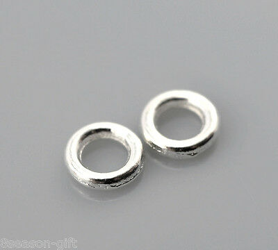 """500PCs Gift Silver Plated Soldered Closed Jump Rings 4mm(1/8"""") Dia."""
