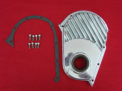 230 250 292 Chevy Inline 6 custom finned polished aluminum front cover