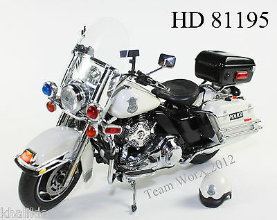 2012 Harley Davidson FLHRC Road King Diecast Police Motorcycle 1:12 - 81195 NEW