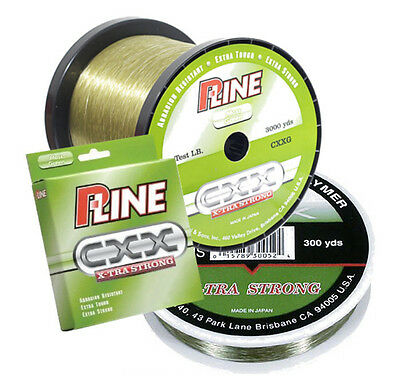 P-LINE CXX MOSS GREEN X-TRA STRONG FISHING LINE 600 YARDS select lb test