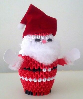 Hand made 3D Origami Santa - A Great Christmas Gift!
