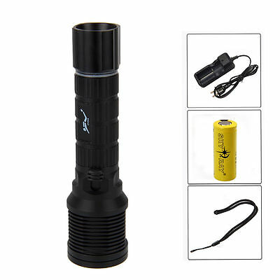 Trustfire Scuba Diving 5000Lm CREE XM-L2 LED Flashlight Torch Light 26650 Lamp