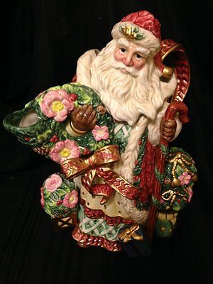Fitz and Floyd classic Santa Claus Pitcher Retired