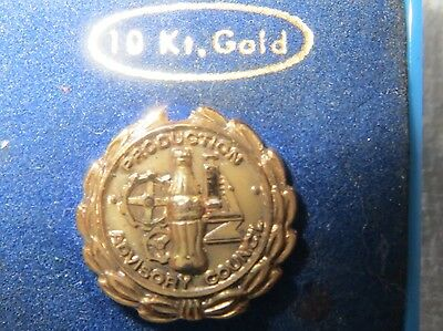 LOWER PRICE Vintage Coca Cola Coke 10 K Production Advisory Council Pin
