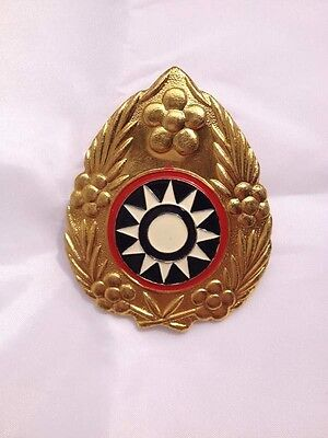WW2 China KMT Kuomingtang Army Type 46 Field Cap Insignia Badge - CN010