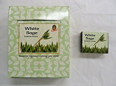 Kamini Incense Cone White Sage: 10 20 30 60 100 or 120 Cones U Choose How Many!