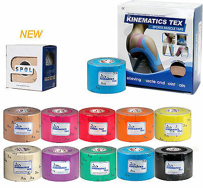 SPOL 6 Rolls 5CMx5M Kinesiology Sports Elastic Tape Muscle pain care Therapeutic