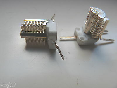 1 to  13pF   SILVER PLATED BRASS  VARIABLE TRIMMER PRESET CAPACITOR NEW 2 PCS