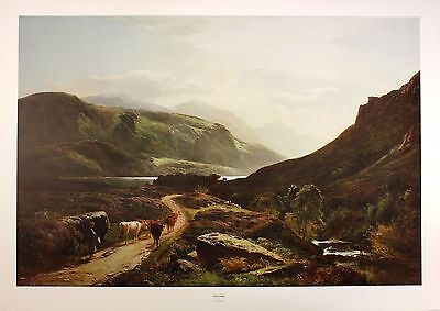 "S R PERCY ""Loch Long"" SCOTTISH highland scotland PRINT! SIZE:50cm x 75cm  RARE"