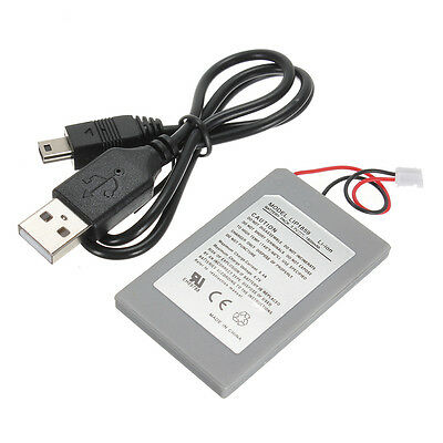 4.2V 1800mAh Rechargeable Battery Pack for Sony PS3  + USB Charging Cable