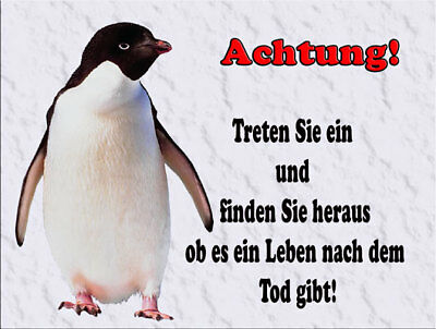 Pinguin  -  Metallschild-Aluschild-Warnschild