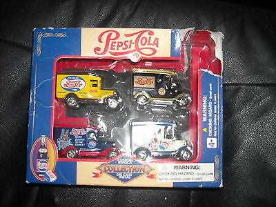 Pepsi-Cola Custom Replica Die Cast Metal Collection Set of Four Delivery Trucks!