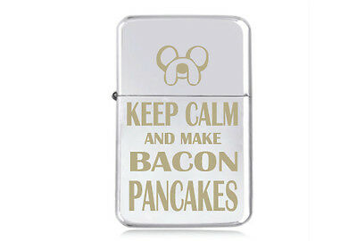 ★STAR★ JAKE BACON PANCAKES engraved  LIGHTER silver pink gold ADVENTURE TIME