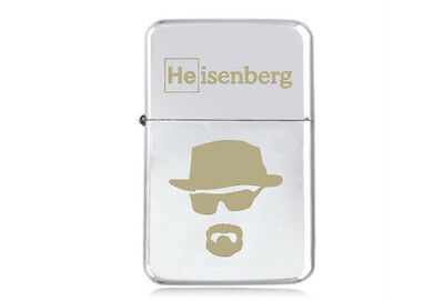 ★STAR★ HEISENBERG engraved LIGHTER silver gold black BREAKING BAD WALTER WHITE S