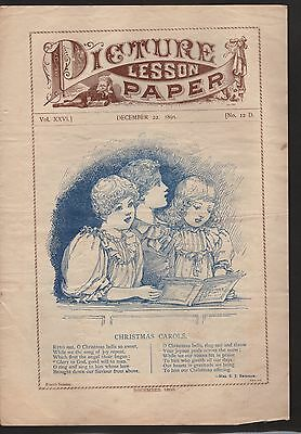 Pcture Lesson Paper -- Inspirational Religious Writings --  1895