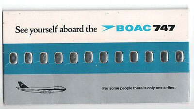 Boac Promotional Card - See Yourself Aboard The Boac 747 - Boeing