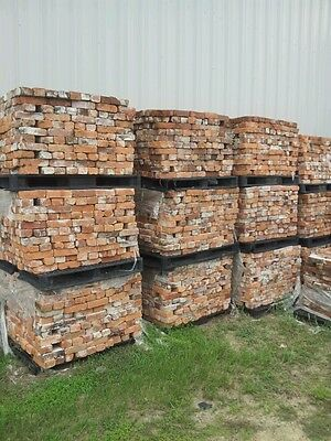 Beautiful antique bricks circa 1900 from an old cotton warehouse