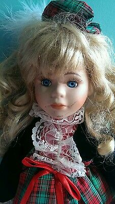 porcelain doll from haunted abandon 1996 heritage mint wind up music doll