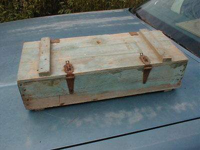Vintage WOODEN AMMO AMMUNITION BOX CRATE CARRIER