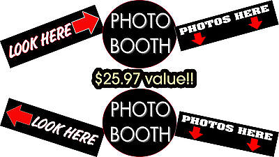 Photo Booth Sign - Stickers - Bundle For Portable Photo Booth and Photo Booths