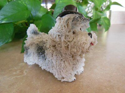 """Adorable SPAGHETTI Scottie Dog? with TOP HAT 1950s Japan 4"""" x 3"""" Exc. condition"""