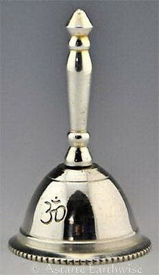 OM ALTAR BELL Silver Plated Wicca Pagan Witch Goth