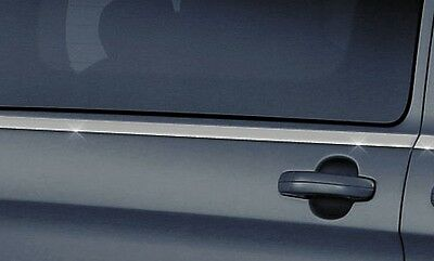 Chrome Side Window Sill Trim Set Covers Surrounds Swb For Ford Transit Custom