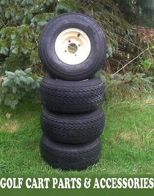Set (4) NEW Golf Cart Tires & Rims 18x8.50-8  EZGO, Club Car, Yamaha Car Wheels