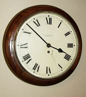 Super SOLID Mahogany Fusee Wall Clock : ELLIOTT, LONDON