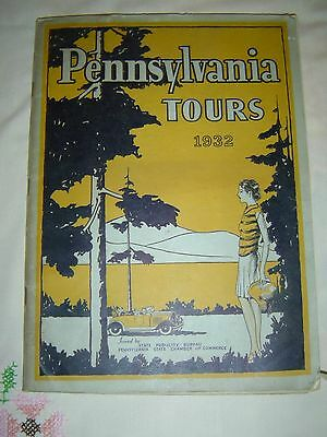 Vintage 1932 Pennsylvania Tours Issued by Pa State Chamber Guide Booklet