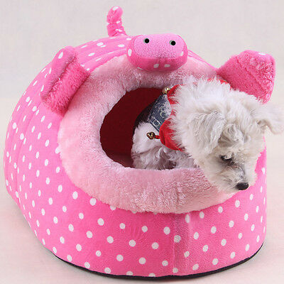 S Warm Animal Character Soft Fleece Pet Bed House Mat for Dog Puppy Cat Teddy