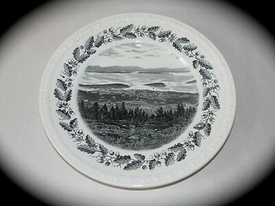 RARE ANTIQUE Plate SPODE Acadia Park  BAR HARBOR Maine VIEW FROM CADILLAC MT