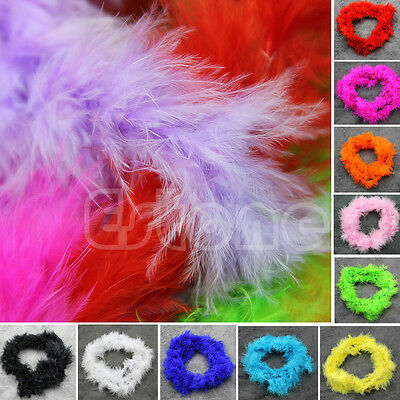 2Meters Various Colours Marabou Feather Boa For Fancy Dress Party Burlesque Boas